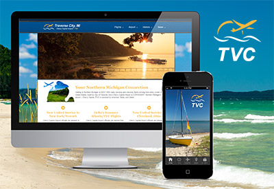 TVC website, app and logo