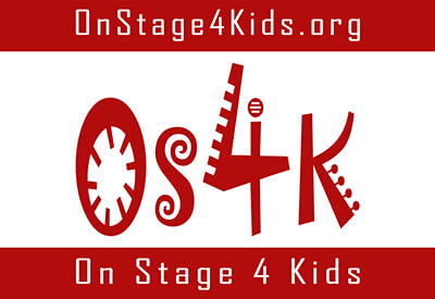 On Stage 4 Kids logo with stylized O-S-4-K