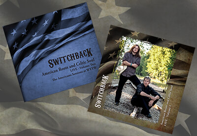 Switchback Live Volume 1 and 2 album covers
