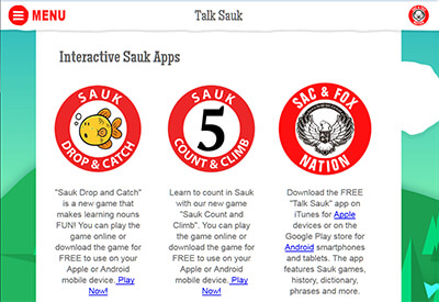 Talk Sauk Website