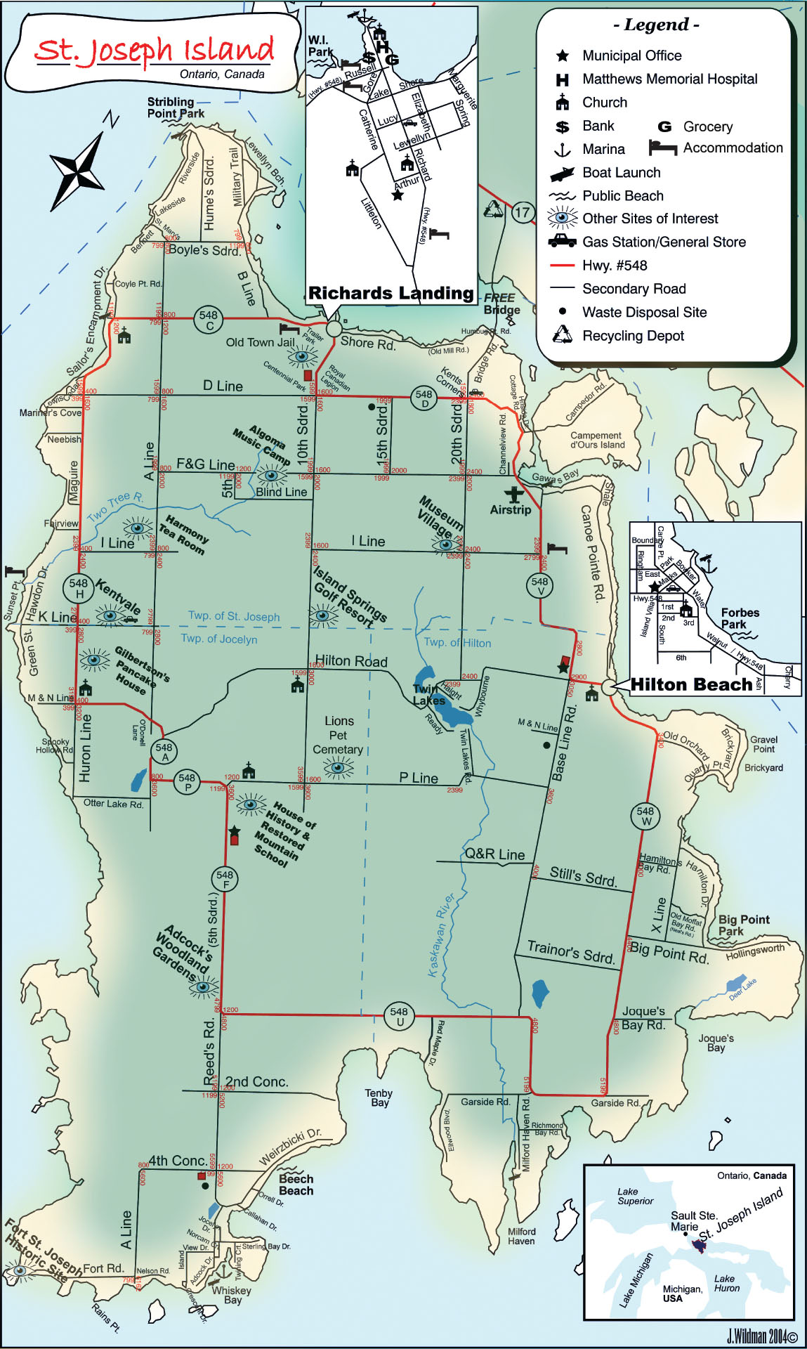 St Joseph Island Ontario Map St. Joseph Island | Great Lakes Waterfront Trail